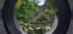 19 The Churchyard Through A Tombstone by Philip Byford