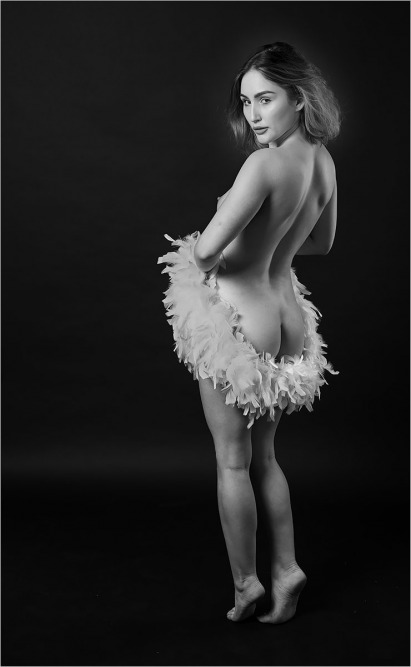 11 Rachelle With Feather Boa by Rob Harley