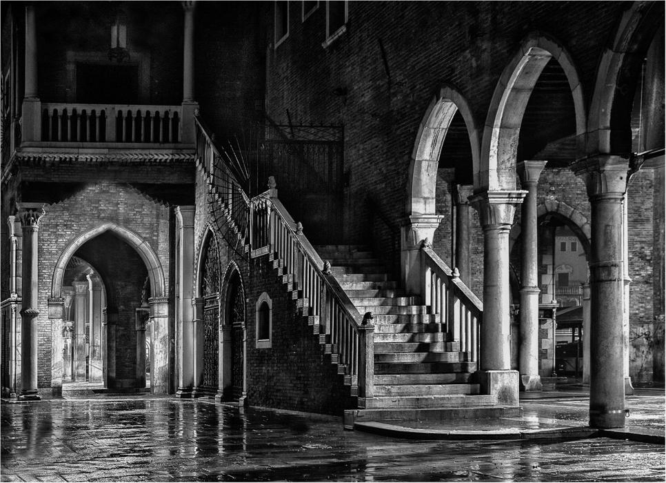 16 Wet Rialto Market At Midnight by James McCracken
