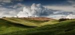 Late light on summer fields by James McCracken